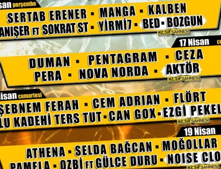 ADANA'DA 16-19 NİSAN'DAÇUKUROVA ROCK FESTİVALİ