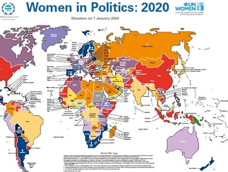 "BM ""SİYASETTE KADIN 2020"" HARİTASINA GÖRE:  KADINLARIN SİYASİ TEMSİLİ HALA YETERSİZ"