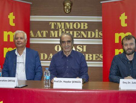 """""""EKONOMİK, EKOLOJİK VE MÜHENDİSLİK BOYUTUYLA GIDA HAKKI"""" PANELİ"""